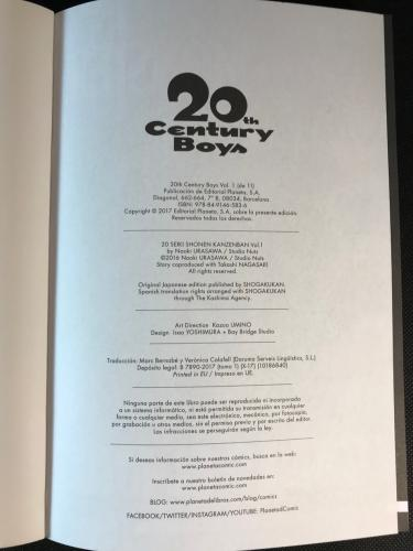20th Century Boys Créditos Planeta Cómic