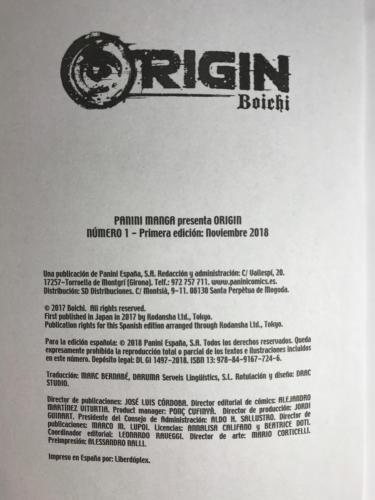 Origin - Créditos
