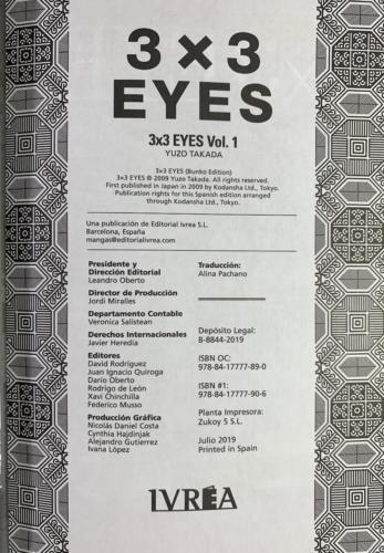 3x3 Eyes - Créditos